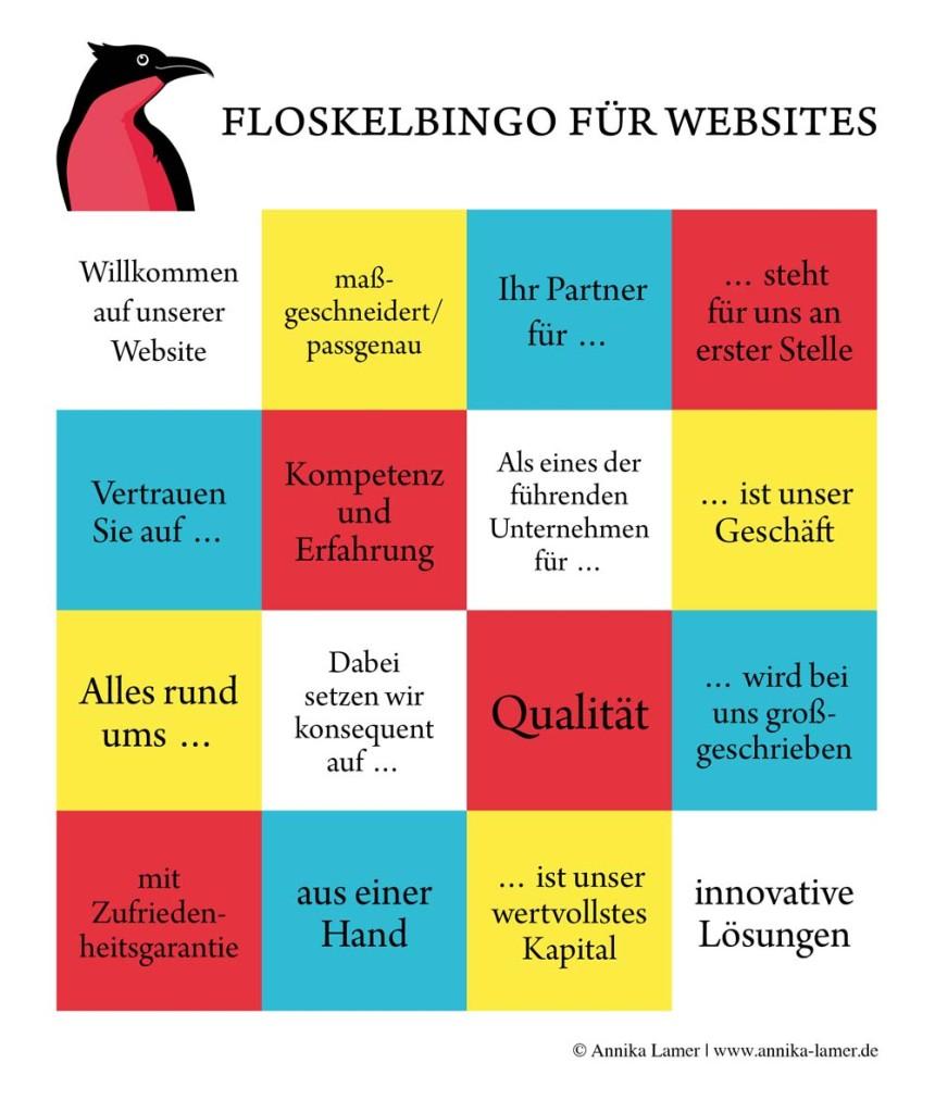Floskelbingo für Websites