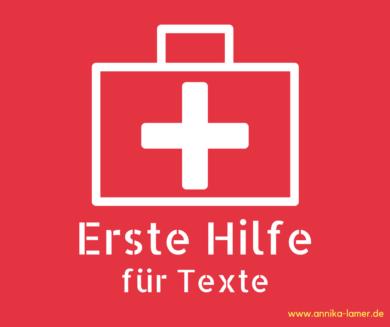 Erste Hilfe für Texte