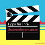 """Neu im Blog: Videoreihe """"Besser texten"""""""