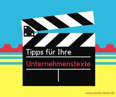 Tipps für Unternehmenstexte