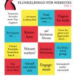 Vier Floskeln in einer Reihe: Das Floskelbingo für Websites, Teil 2