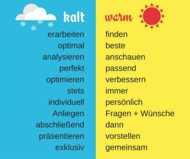 Kalte und warme Wörter